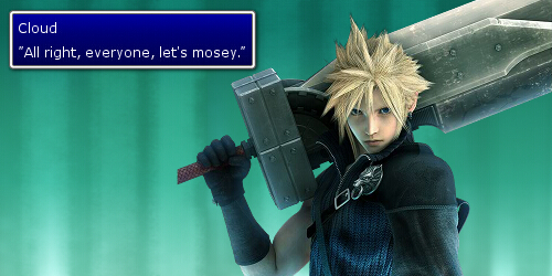Cloud Strife Let's Mosey